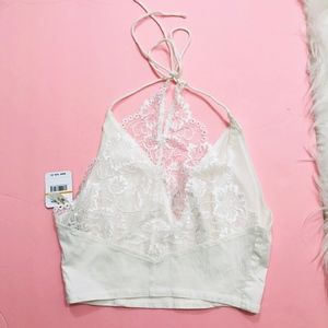 Free People Tops - Free People Glam Crop Top Lace Halter Bralette